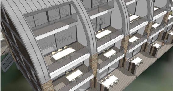 Ruime balkons van Westduin Lodge